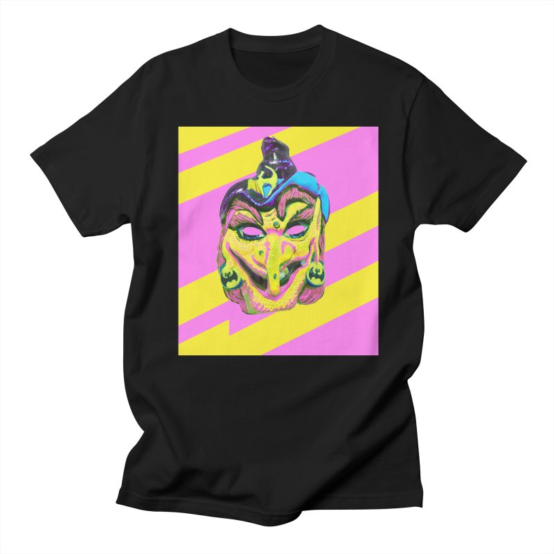 Witchface in Women's Regular Unisex T-Shirt Black by Toban Nichols Studio