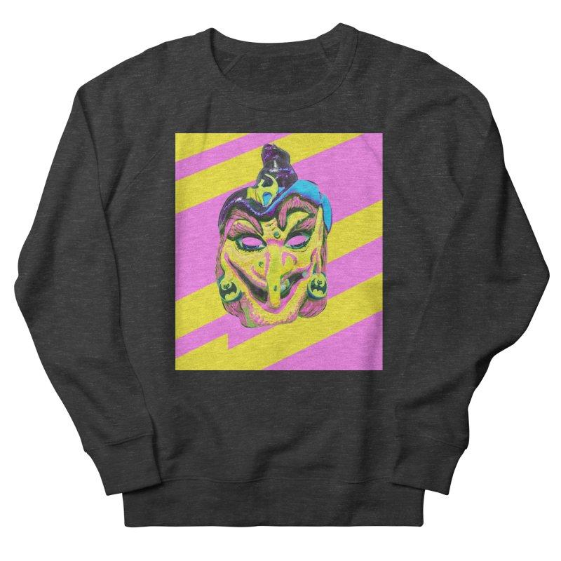 Witchface in Men's French Terry Sweatshirt Smoke by Toban Nichols Studio