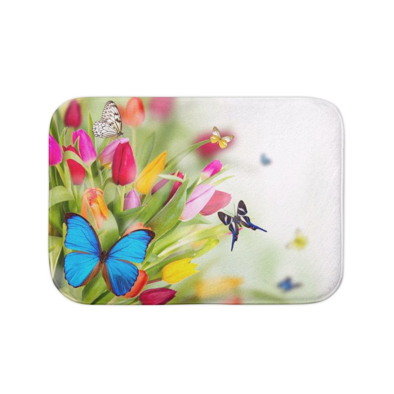 Btrflies Home Bath Mat by Toban Nichols Studio