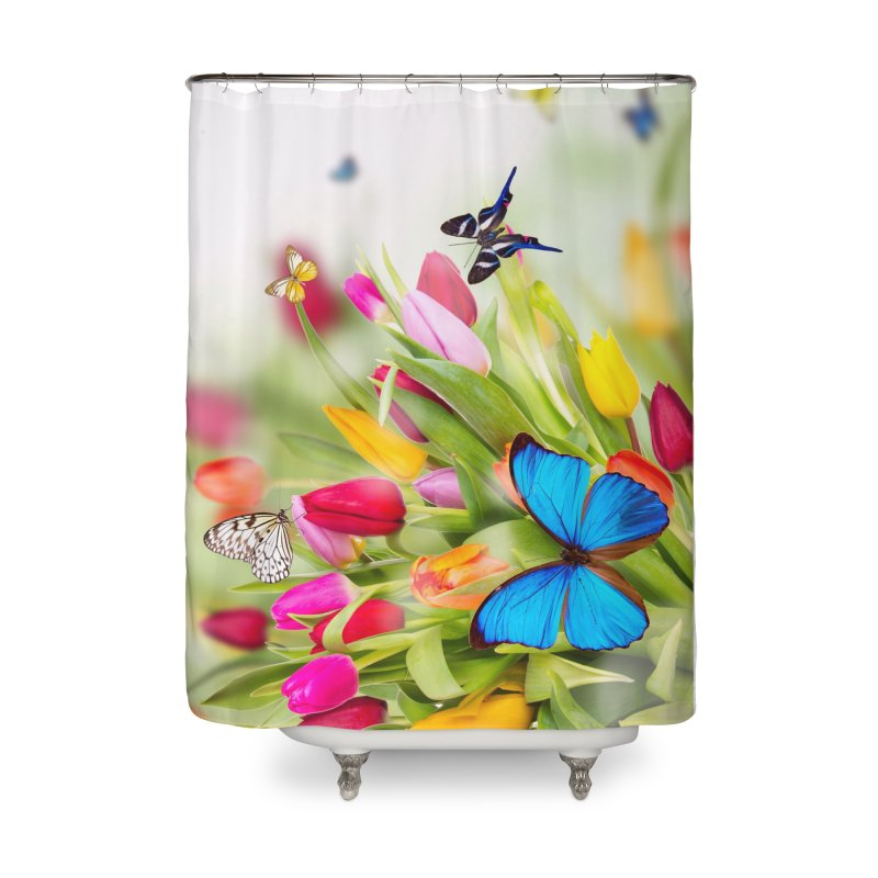 Btrflies Home Shower Curtain by Toban Nichols Studio