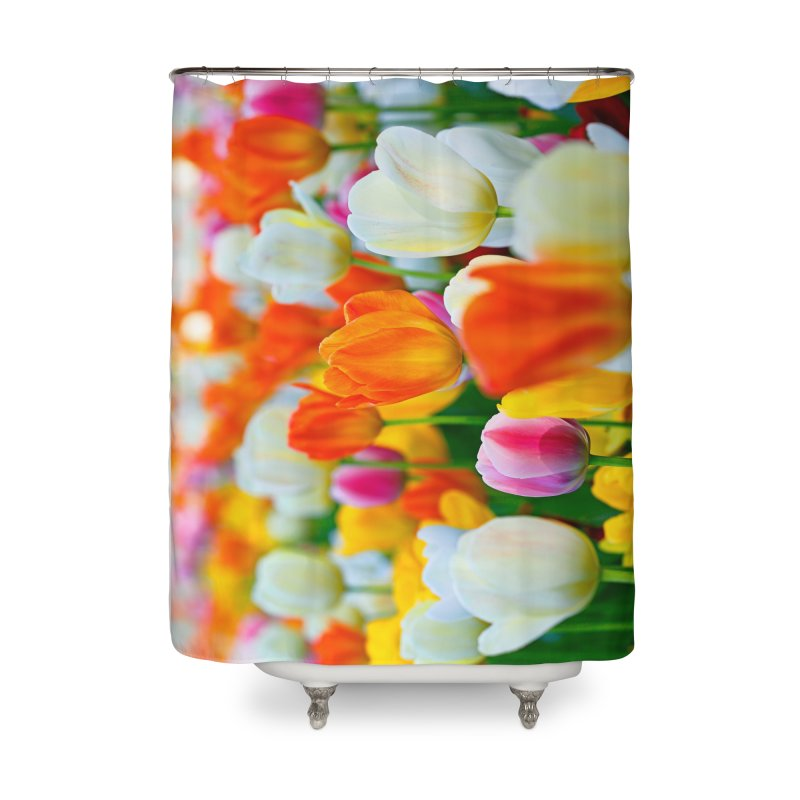 Two Lips in Shower Curtain by Toban Nichols Studio