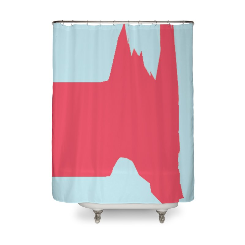 Plateau in Shower Curtain by Toban Nichols Studio