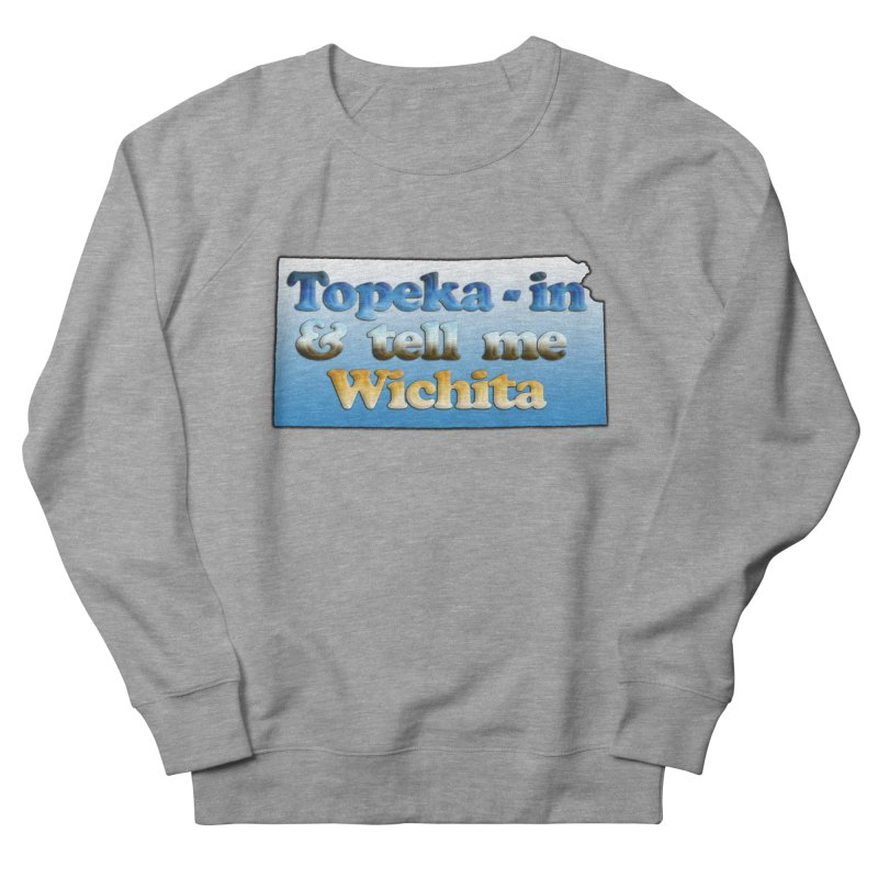 Dad jokes- Kansas edition in Men's French Terry Sweatshirt Heather Graphite by Toban Nichols Studio