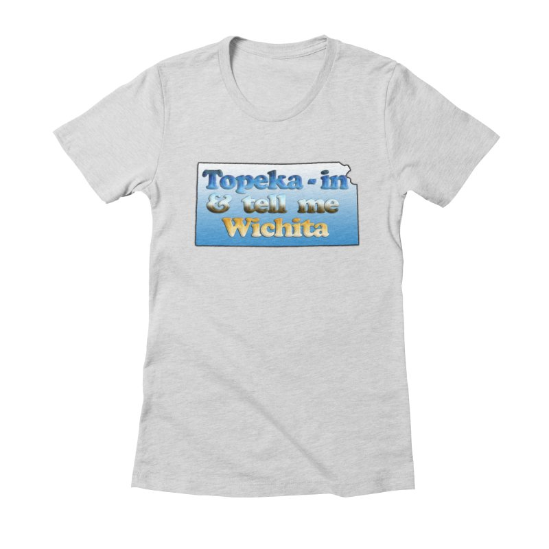 Dad jokes- Kansas edition Women's Fitted T-Shirt by Toban Nichols Studio