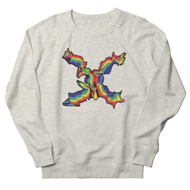 X'd Out in Men's French Terry Sweatshirt Heather Oatmeal by Toban Nichols Studio