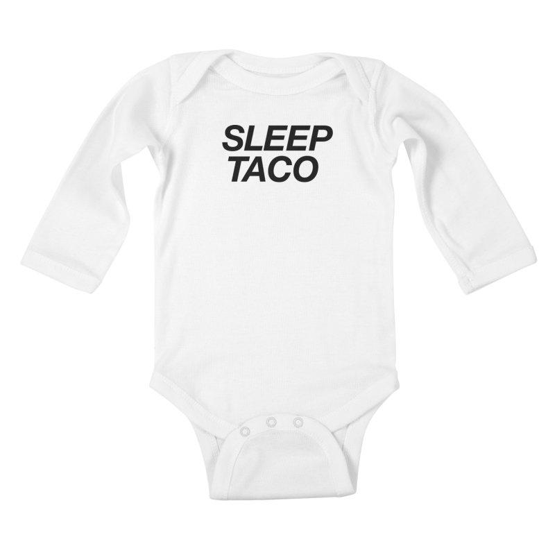 Sleep Taco Kids Baby Longsleeve Bodysuit by Toban Nichols Studio