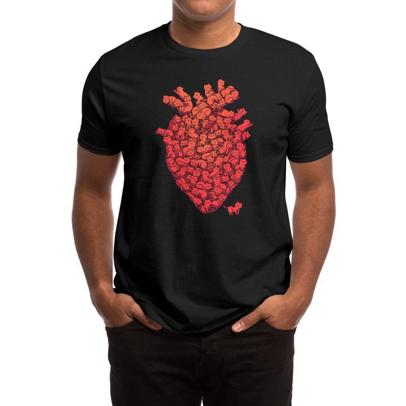 I Love Cat Heart Men's T-Shirt by Tobe Fonseca's Artist Shop