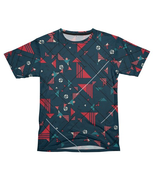 Geometric Abstract Red Pattern