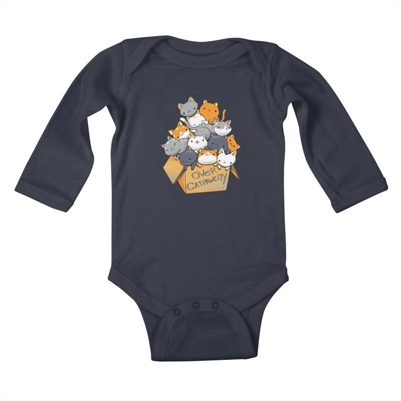Over Catpawcity Kids Baby Longsleeve Bodysuit by Tobe Fonseca's Artist Shop