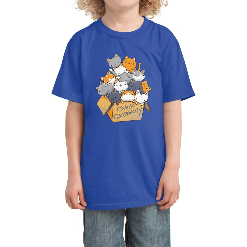 Over Catpawcity Kids T-Shirt by Tobe Fonseca's Artist Shop