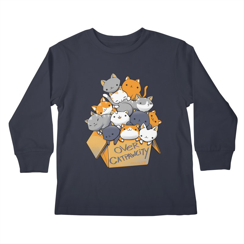 Over Catpawcity Kids Longsleeve T-Shirt by Tobe Fonseca's Artist Shop