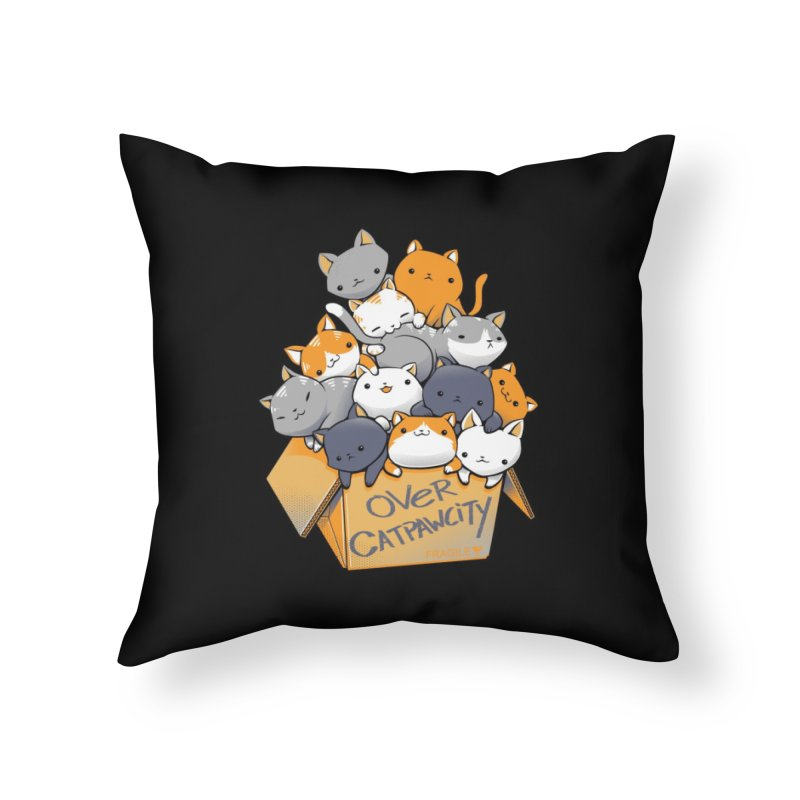 Over Catpawcity Home Throw Pillow by Tobe Fonseca's Artist Shop