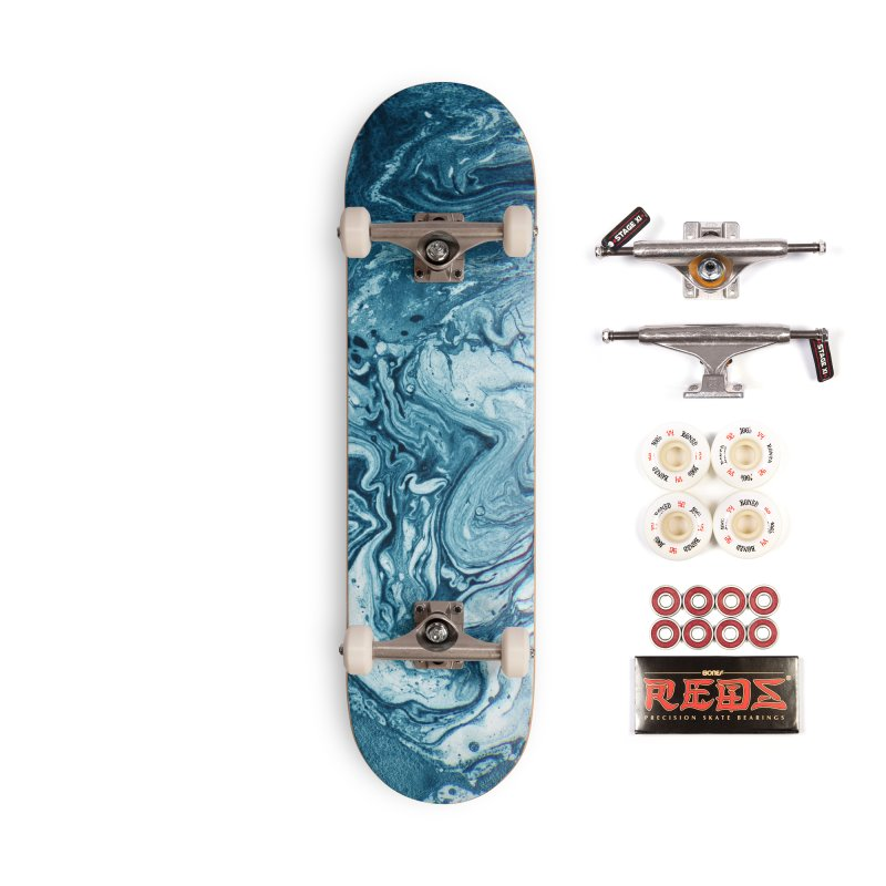 Real Marble Glitch Pattern Accessories Skateboard by Tobe Fonseca's Artist Shop