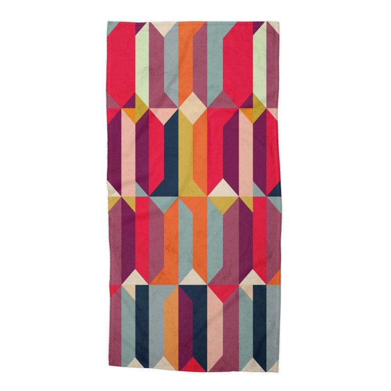 Geometric Icelandic Colors Accessories Beach Towel by Tobe Fonseca's Artist Shop