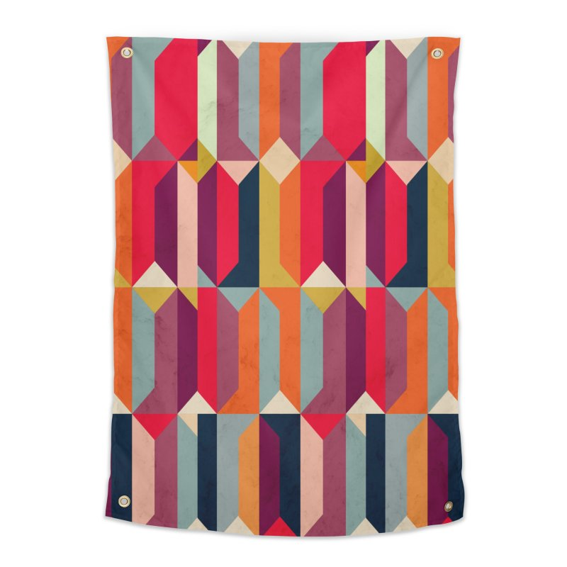 Geometric Icelandic Colors Home Tapestry by Tobe Fonseca's Artist Shop
