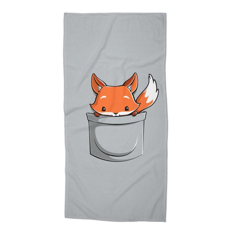 Pocket Fox Accessories Beach Towel by Tobe Fonseca's Artist Shop