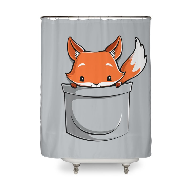 Pocket Fox Home Shower Curtain by Tobe Fonseca's Artist Shop