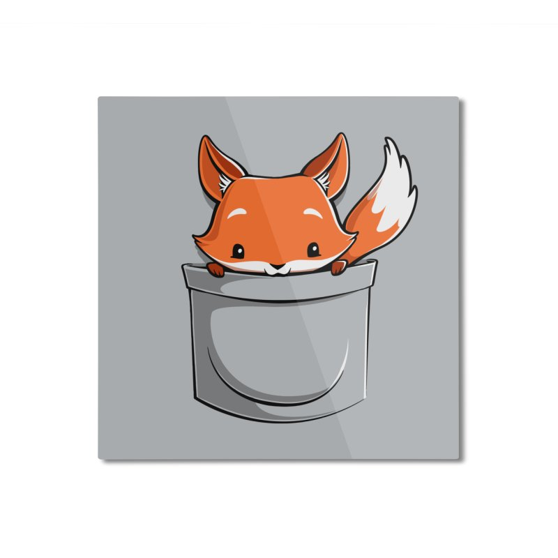 Pocket Fox Home Mounted Aluminum Print by Tobe Fonseca's Artist Shop