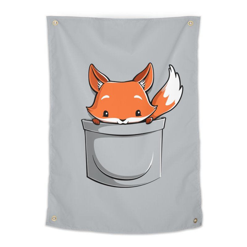 Pocket Fox Home Tapestry by Tobe Fonseca's Artist Shop