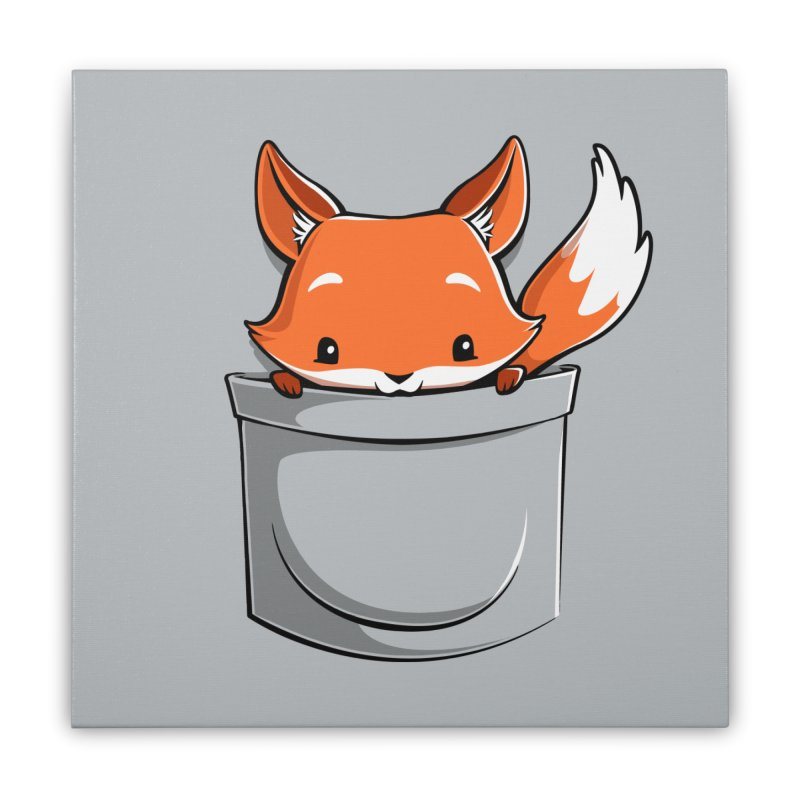 Pocket Fox Home Stretched Canvas by Tobe Fonseca's Artist Shop