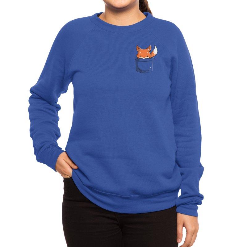 Pocket Fox Women's Sweatshirt by Tobe Fonseca's Artist Shop