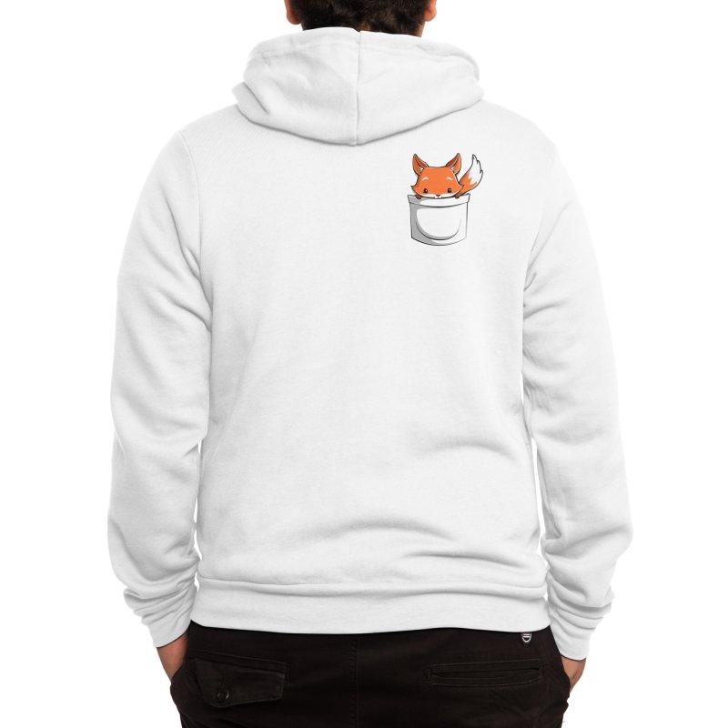 Pocket Fox Men's Zip-Up Hoody by Tobe Fonseca's Artist Shop