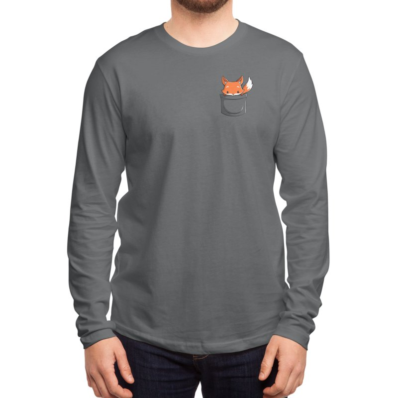 Pocket Fox Men's Longsleeve T-Shirt by Tobe Fonseca's Artist Shop