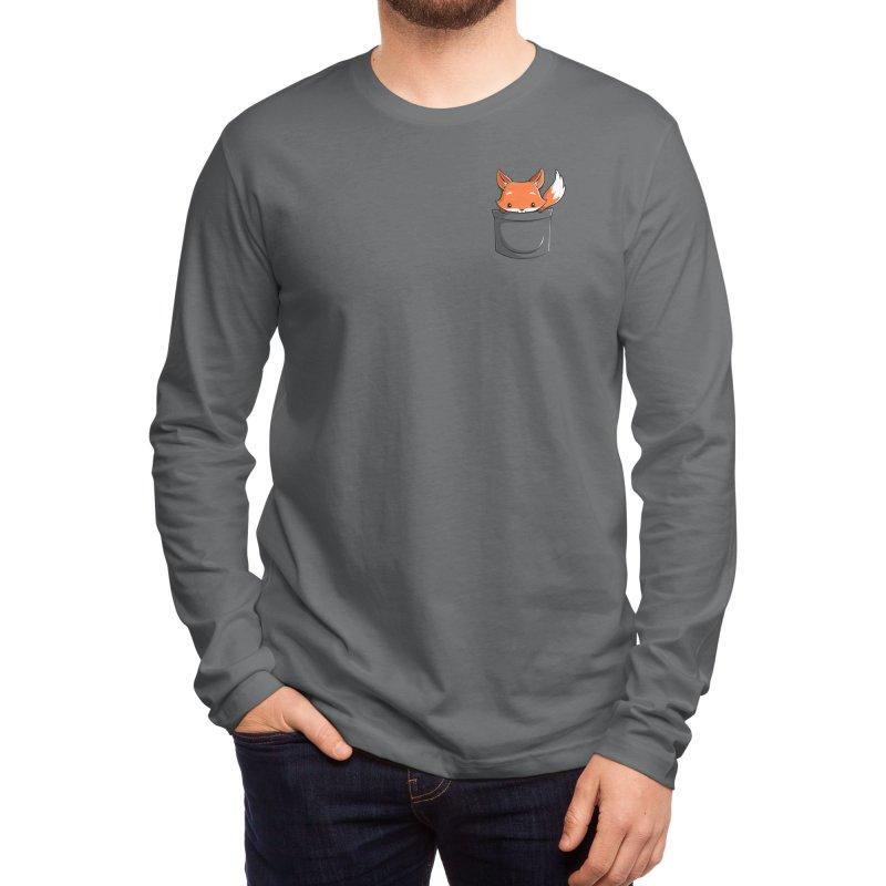 Pocket Fox Men's Longsleeve T-Shirt by Tobe Fonseca's Artist Shop