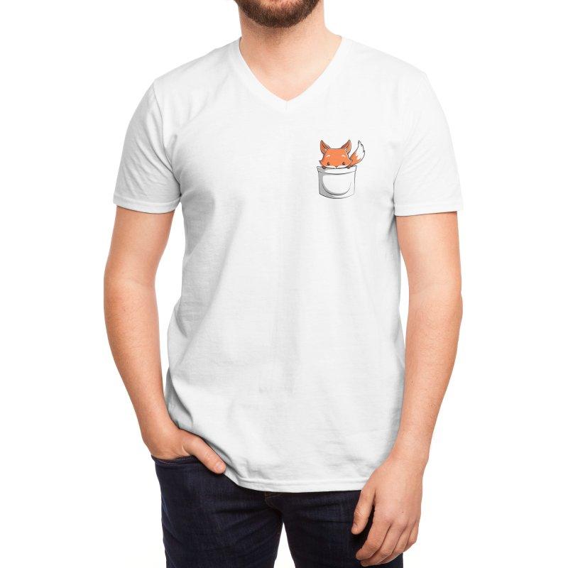 Pocket Fox Men's V-Neck by Tobe Fonseca's Artist Shop