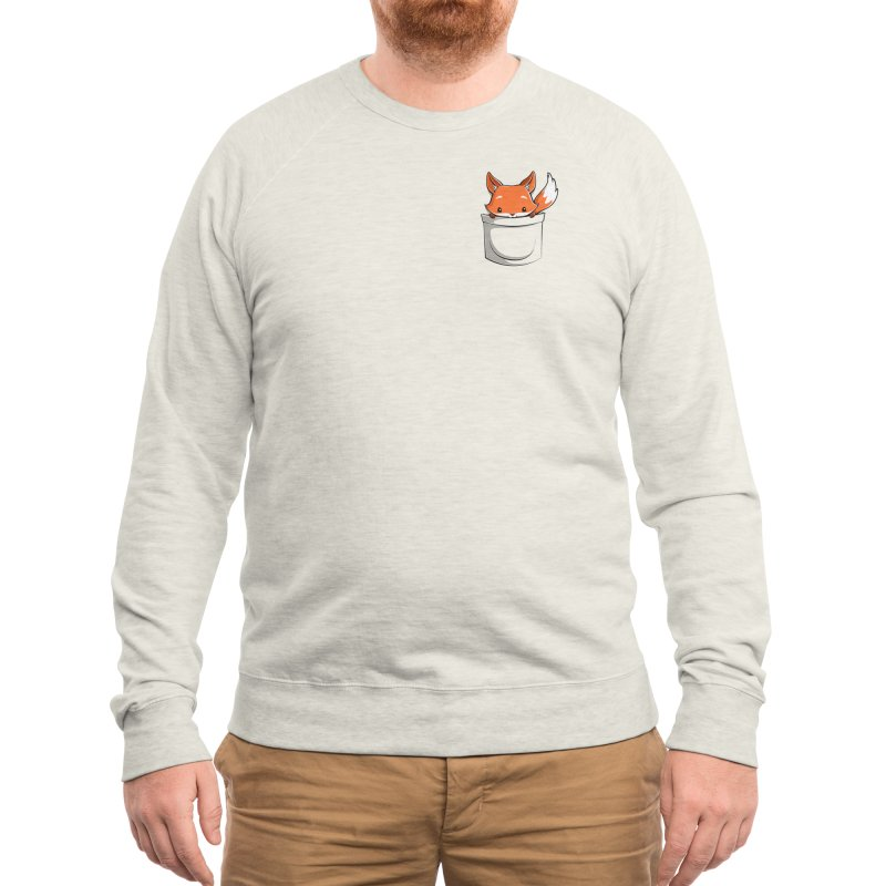 Pocket Fox Men's Sweatshirt by Tobe Fonseca's Artist Shop