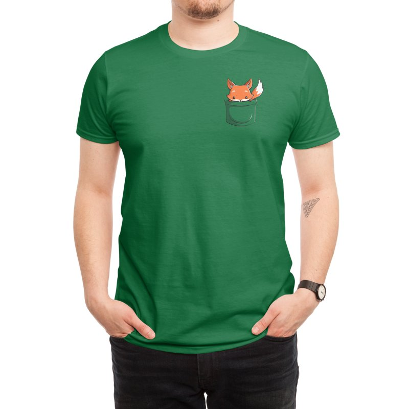 Pocket Fox Men's T-Shirt by Tobe Fonseca's Artist Shop