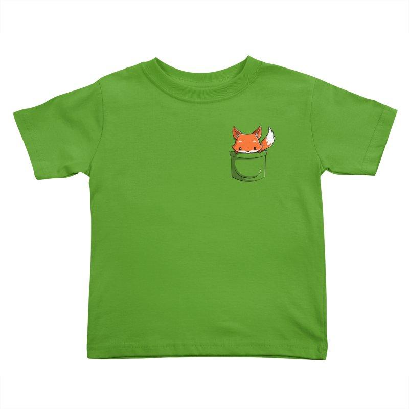 Pocket Fox Kids Toddler T-Shirt by Tobe Fonseca's Artist Shop