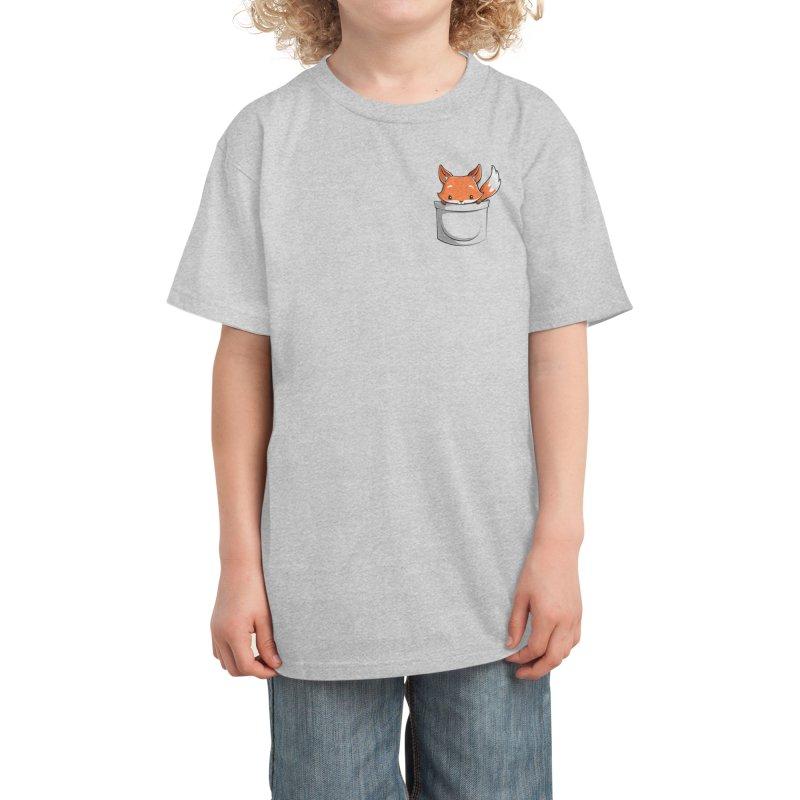 Pocket Fox Kids T-Shirt by Tobe Fonseca's Artist Shop