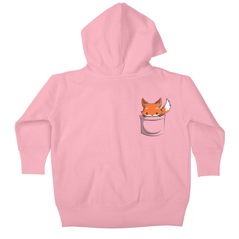 Pocket Fox Kids Baby Zip-Up Hoody by Tobe Fonseca's Artist Shop