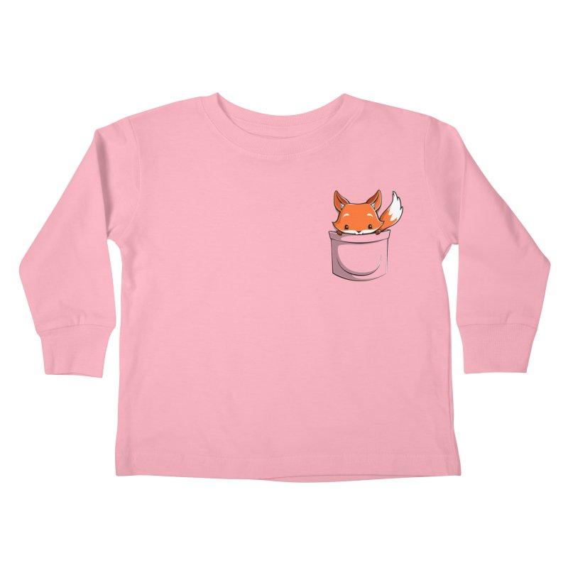 Pocket Fox Kids Toddler Longsleeve T-Shirt by Tobe Fonseca's Artist Shop