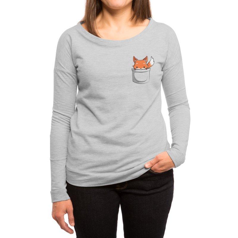Pocket Fox Women's Longsleeve T-Shirt by Tobe Fonseca's Artist Shop