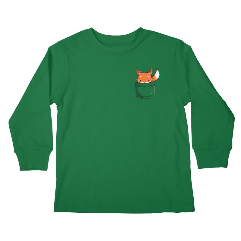 Pocket Fox Kids Longsleeve T-Shirt by Tobe Fonseca's Artist Shop