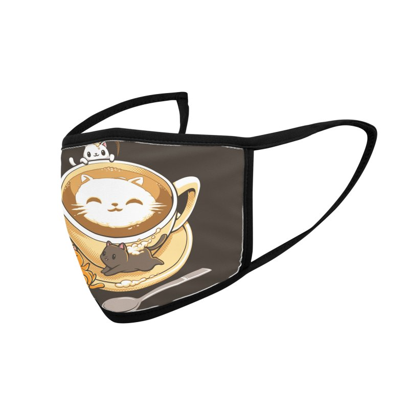 Latte Cat Accessories Face Mask by Tobe Fonseca's Artist Shop