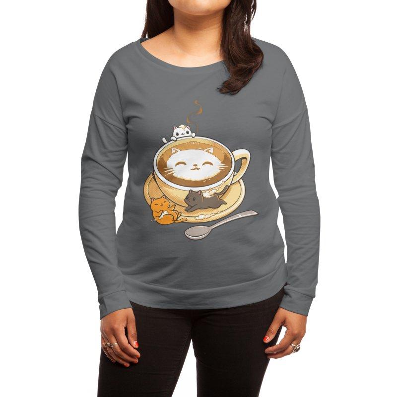 Latte Cat Women's Longsleeve T-Shirt by Tobe Fonseca's Artist Shop