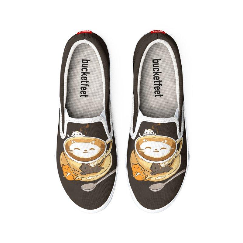 Latte Cat Women's Shoes by Tobe Fonseca's Artist Shop