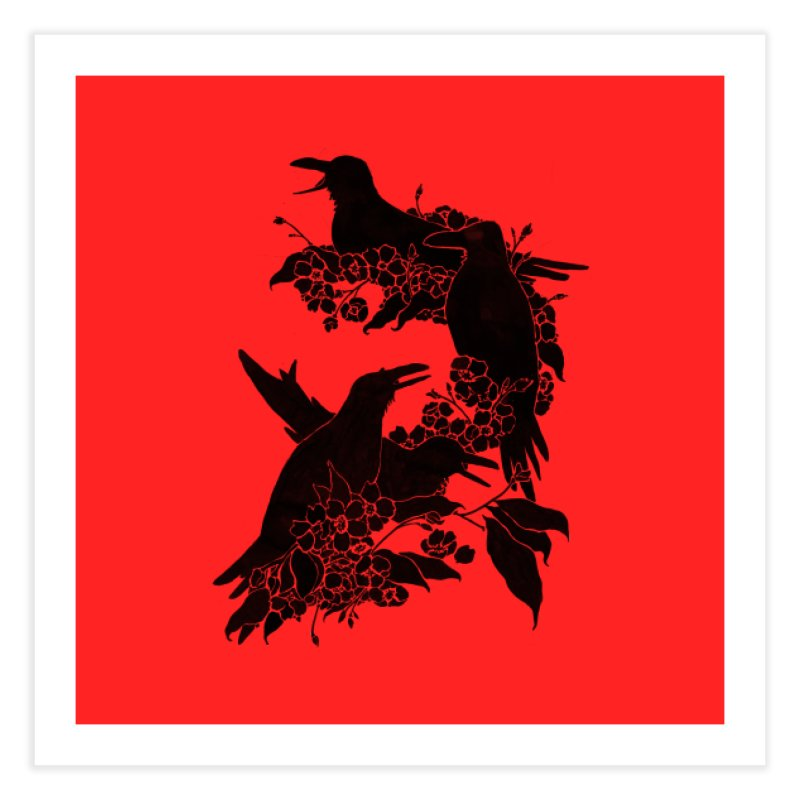 A Feast for Crows Home Fine Art Print by Tobe Fonseca's Artist Shop