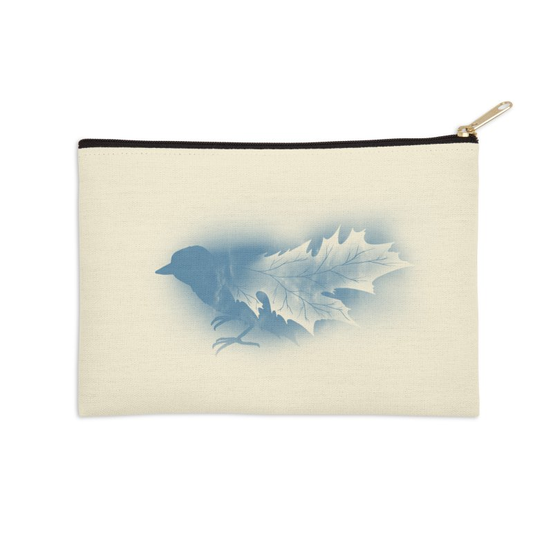 Leaves Accessories Zip Pouch by Tobe Fonseca's Artist Shop
