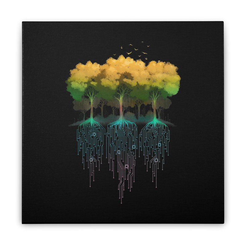 Connection Forest Home Stretched Canvas by Tobe Fonseca's Artist Shop
