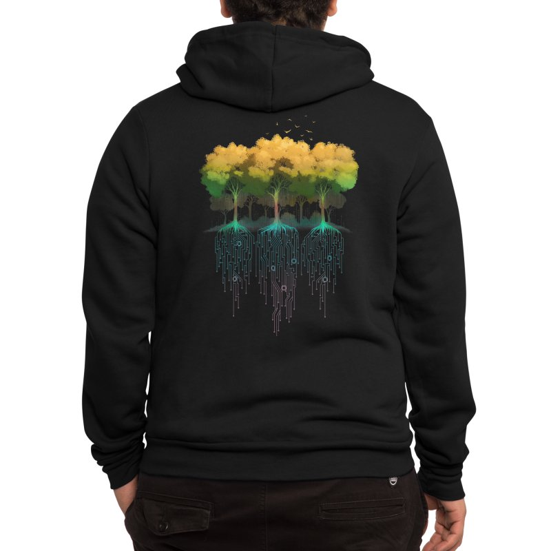 Connection Forest Men's Zip-Up Hoody by Tobe Fonseca's Artist Shop