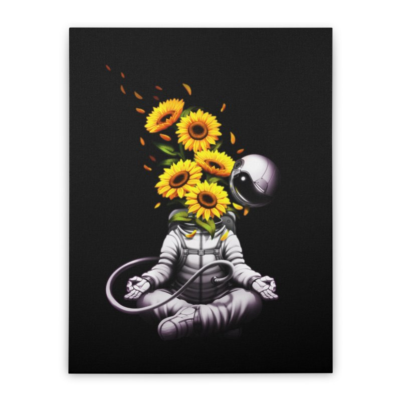 Meditation Astronaut Spring Home Stretched Canvas by Tobe Fonseca's Artist Shop