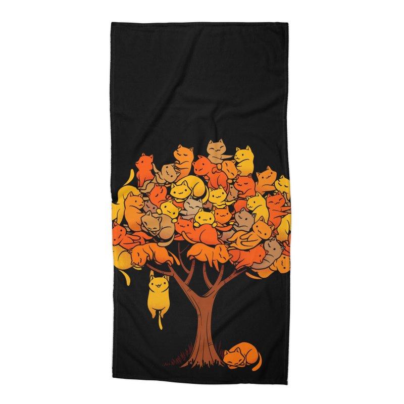 Cat Tree Accessories Beach Towel by Tobe Fonseca's Artist Shop
