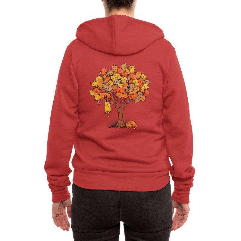 Cat Tree Women's Zip-Up Hoody by Tobe Fonseca's Artist Shop
