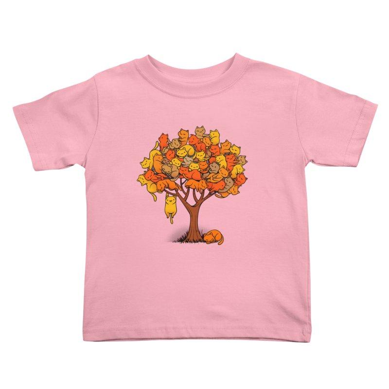 Cat Tree Kids Toddler T-Shirt by Tobe Fonseca's Artist Shop