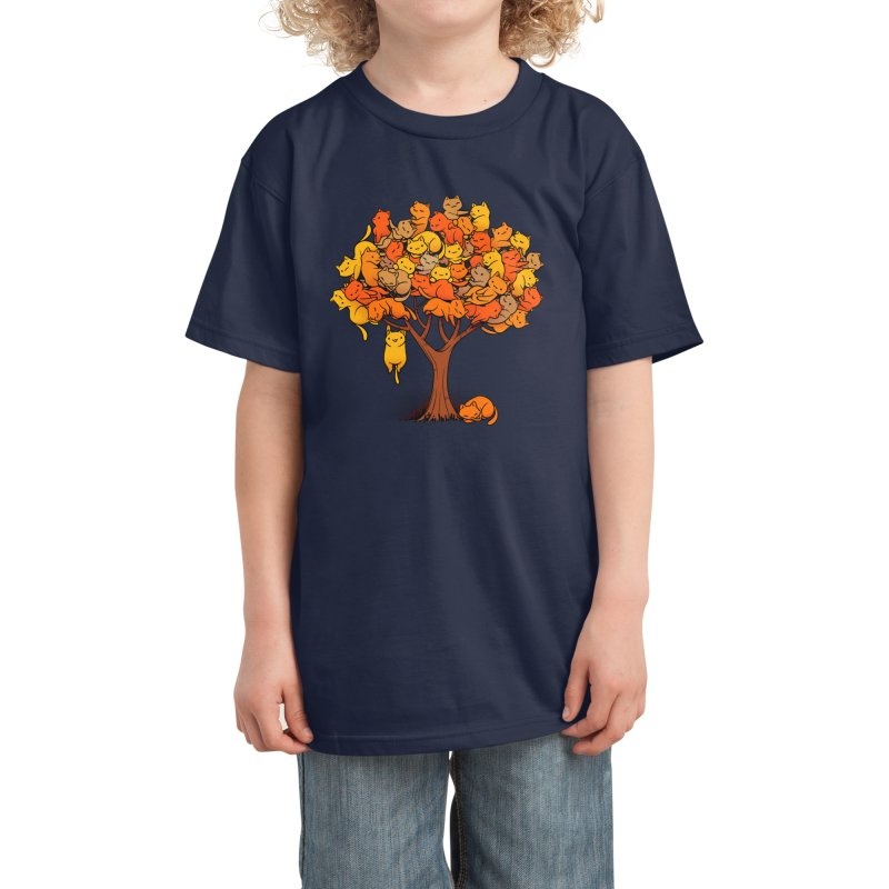 Cat Tree Kids T-Shirt by Tobe Fonseca's Artist Shop