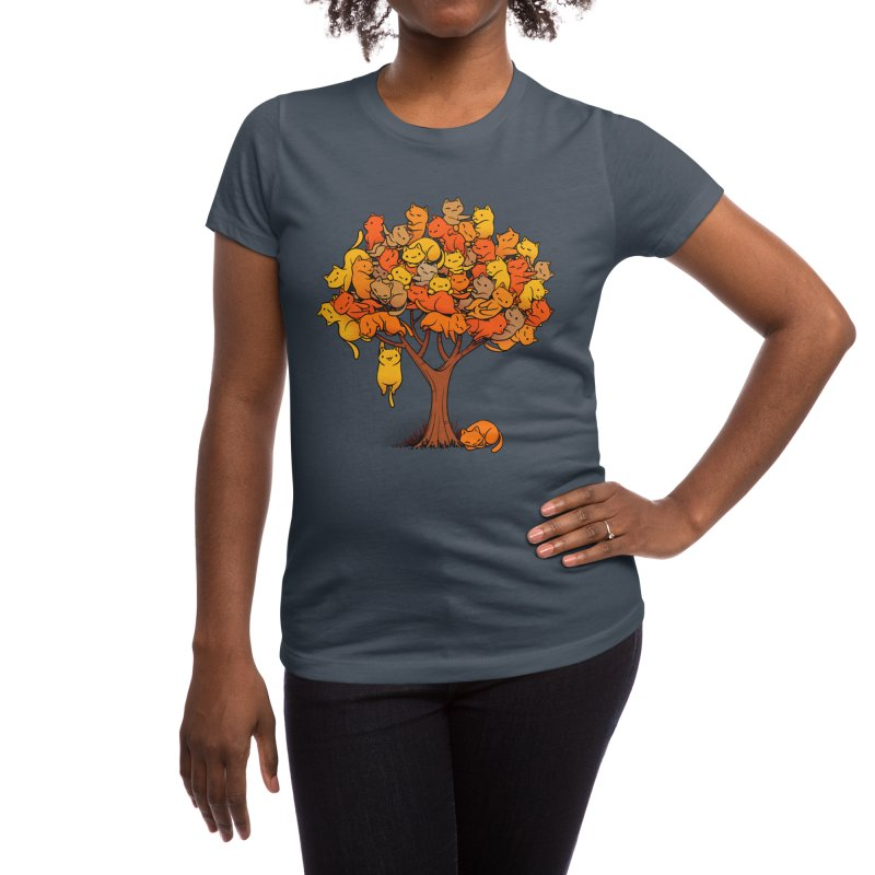 Cat Tree Women's T-Shirt by Tobe Fonseca's Artist Shop